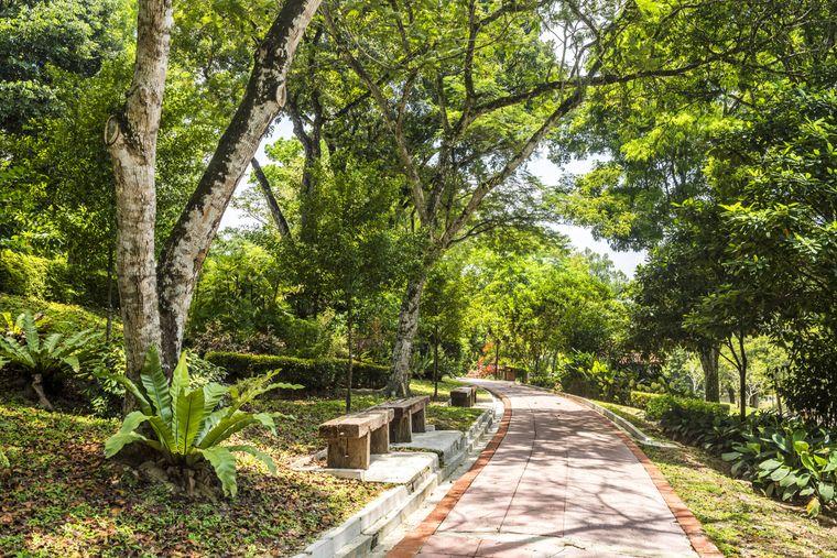 Der botanische Garten in Kuala Lumpur.