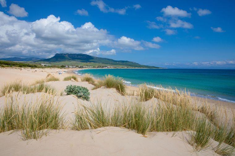 Ein Idyll für Wassersportler: Der Playa de Bolonia.