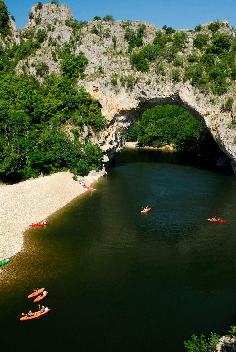 Felsbogen Pont d Arc, Gorges de l'Ardèche
