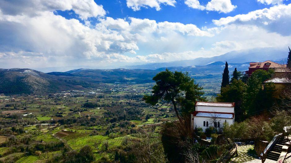 Der Blick von Edessa ins Tal.