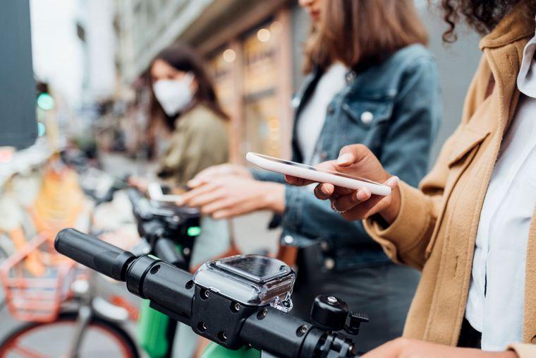 Wer ein Fahrrad mietet ist klimafreundlicher unterwegs.