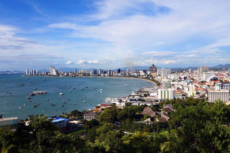 Pattaya liegt an der östlichen Golfküste Thailands.