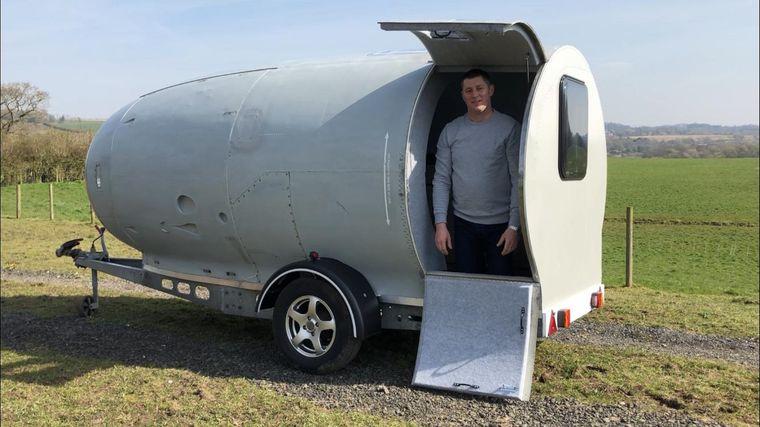 Steve Jones will spätestens im Frühjahr 2021 mit seinem selbst gebauten Camper losfahren.