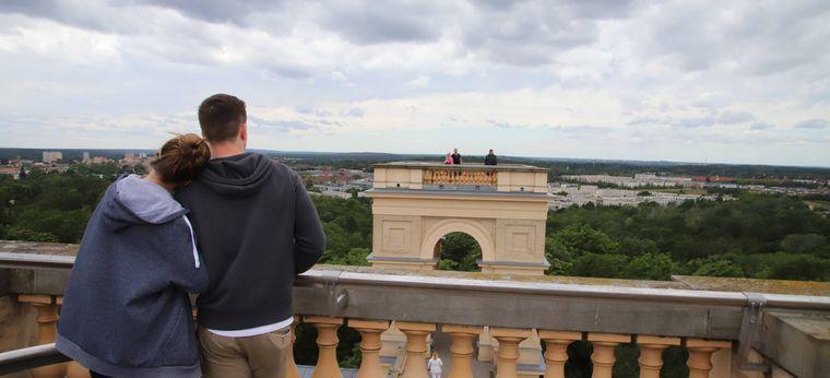 Blick vom Belvedere Pfingsberg Richtung Potsdam.