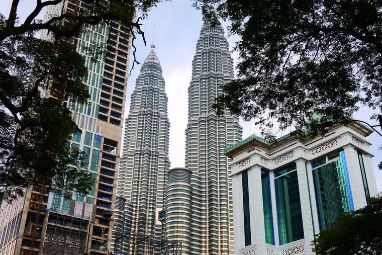 Nicht zu übersehen: Die Petronas Tower in Kuala Lumpur.