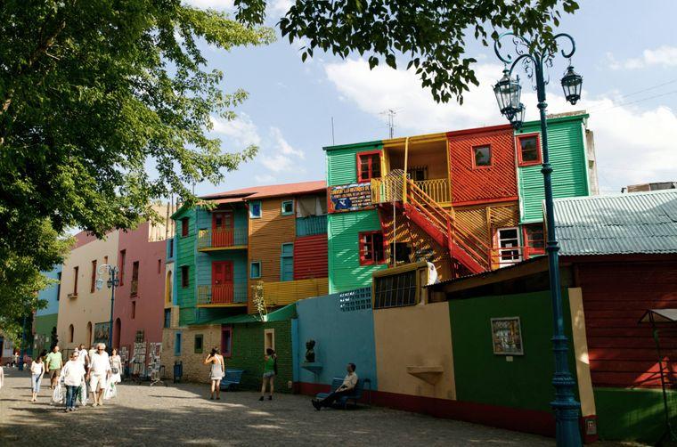 Der Stadtteil La Boca in Buenos Aires ist bunt.