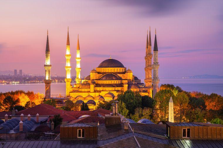Die Sultan-Ahmed-Moschee in Istanbul.