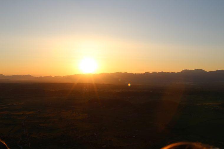 Der Sonnenuntergang über der Serra de Tramuntana.
