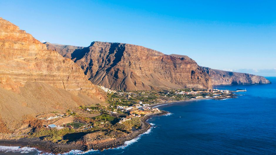 Das Valle Gran Rey auf der Kanareninsel La Gomera.