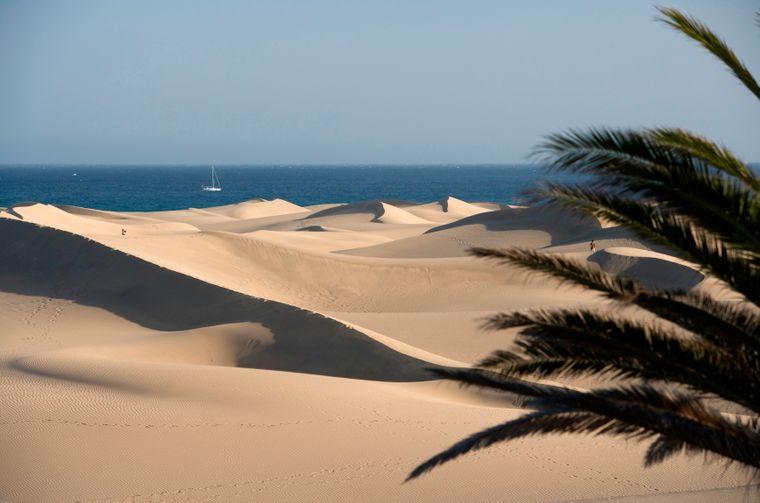 Die Playa de Maspalomas ist nicht nur einer der bekanntesten Strände der Kanaren, sondern von ganz Spanien.