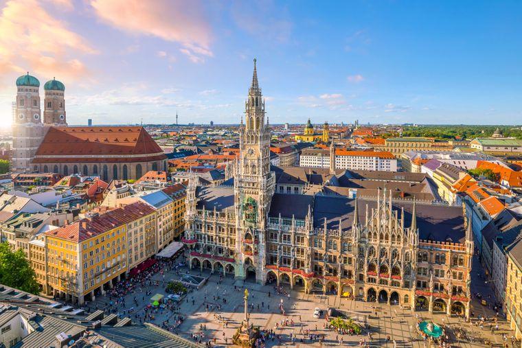 Marienplatz München.