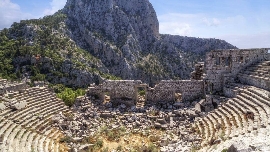 Die Termessos Ruinen liegen mitten im Taurusgebirge in der Türkei.