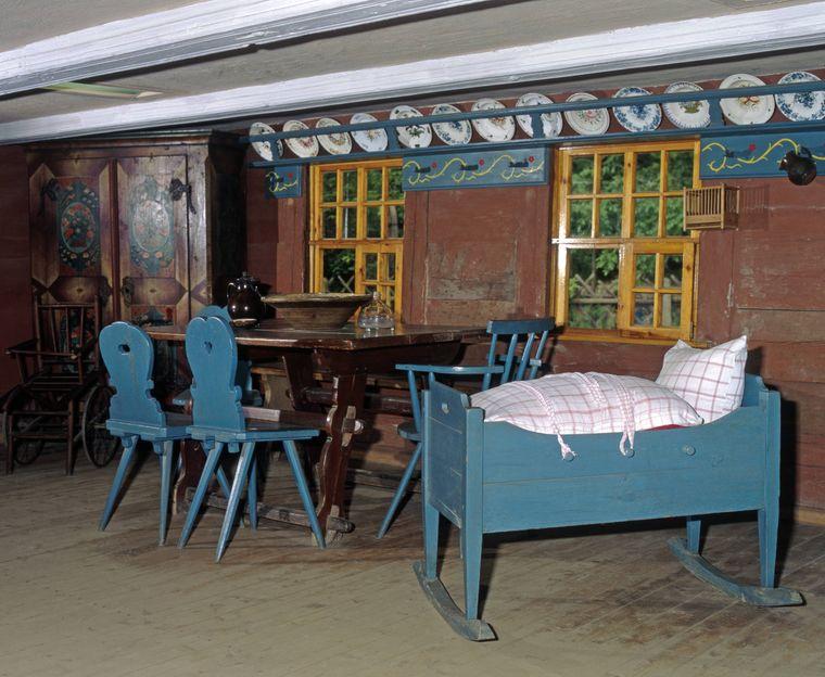 So sah es in der Wohnstube eines alten Spreewaldhofes aus.