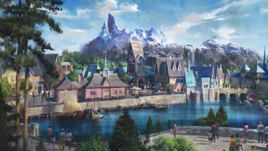 """Das Königreich Arendelle aus dem Film """"Die Eiskönigin"""" entsteht im Disneyland Paris."""