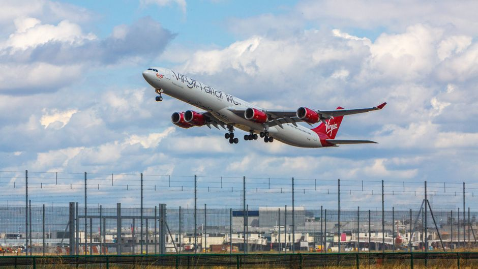 Auf der Kurzstrecke zählt die britische Airline Virgin Atlantic zu den größten Drecksschleudern.