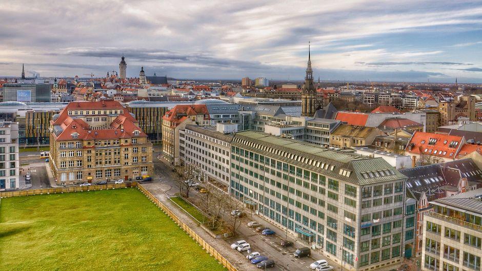 Leipzig von oben.