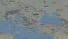 Route des Fluges W66411 von Wizz Air, der statt in Mailand in Belgrad landen musste.