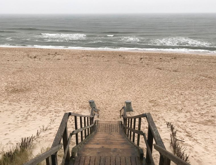 Blick auf die Nordsee am Strand auf der Insel Sylt.