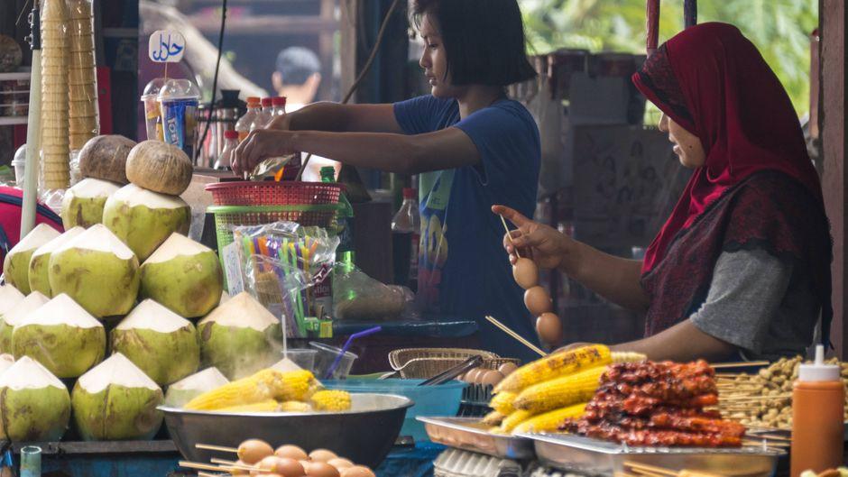 Streetfood im thailändischen Krabi.