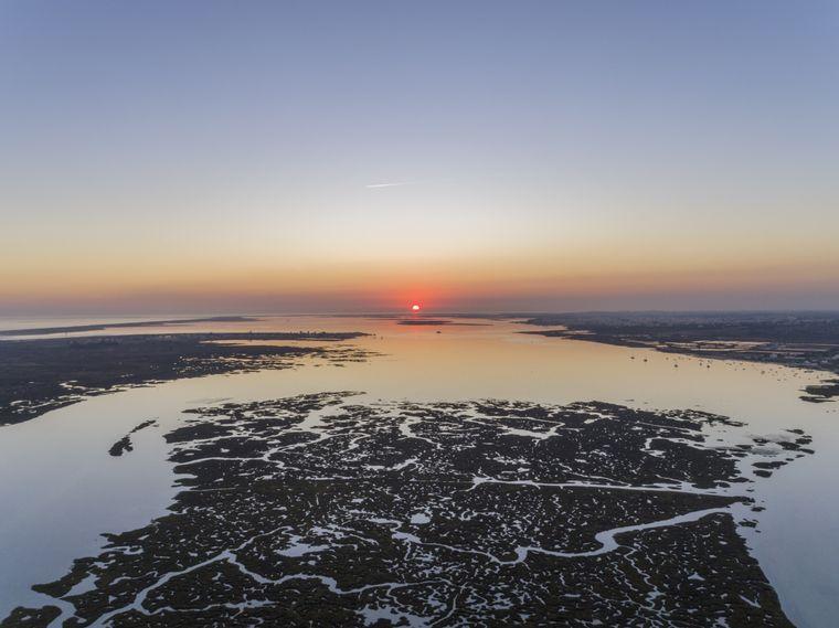 Das Naturschutzgebiet Ria Formosa erstreckt sich über 60 Kilometer.