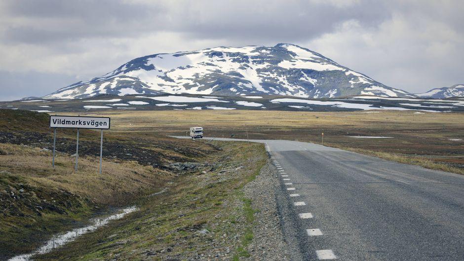 Auf der Wilderness Road in Västerbotten kann man stundenlang mit dem Auto fahren, ohne anderen Menschen zu begegnen.