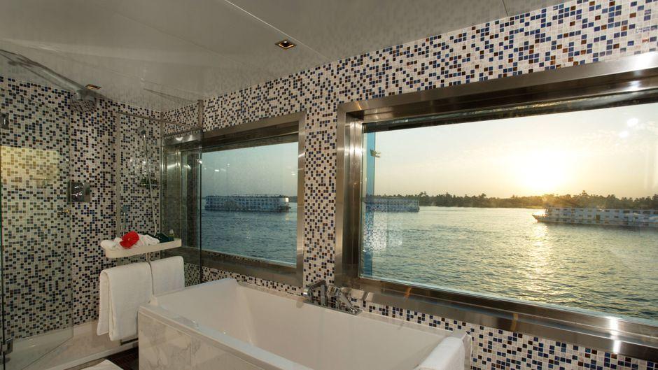 Ob Normalo-Zimmer oder Suite wie hier auf dem Nilkreuzfahrtschiff Zahra wählen Reisende selbst.