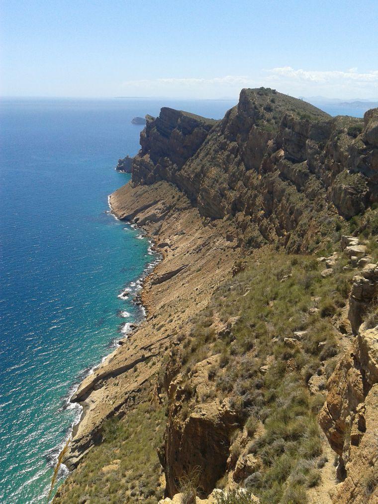 Blick auf das Mittelmeer während meiner Wanderung.