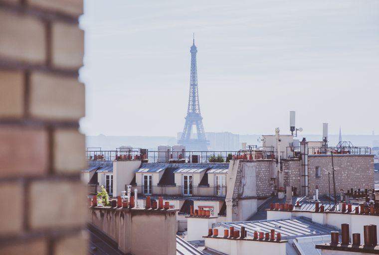 Immer wieder schön: Der Blick auf den Eiffelturm in Paris.