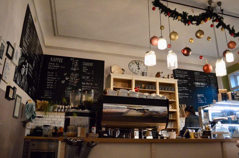 """Das """"Kaffeehus"""" in Göttingen."""