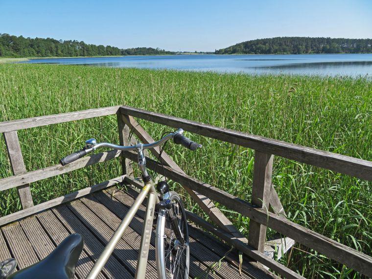 Fahrrad-Safari an den Seen entlang.