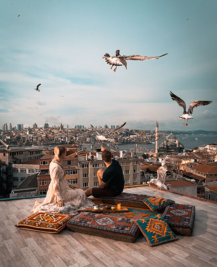 Alma und Sadin unterwegs in Istanbul.