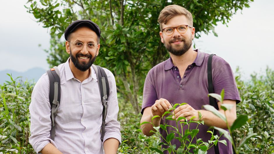 Salem El-Mogaddedi und Gernot Würtenberger in Myanmar.