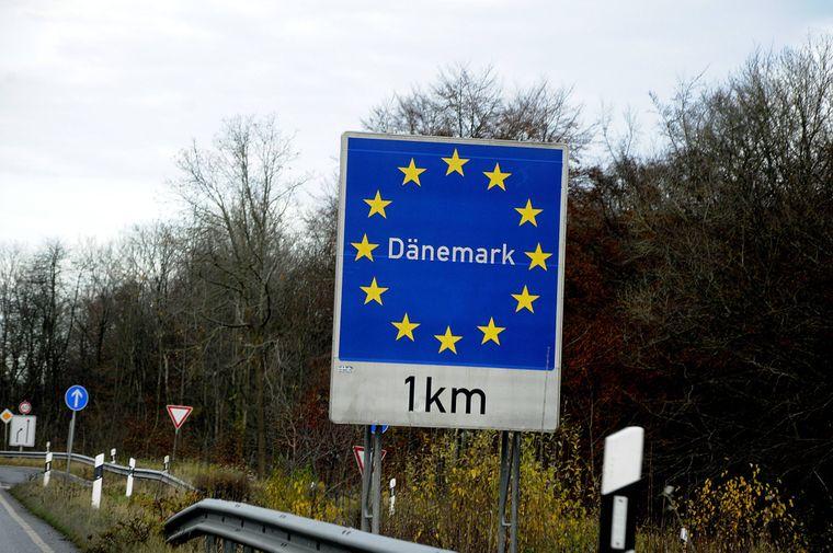 Deutsch-dänischer Grenzübergang Krusa