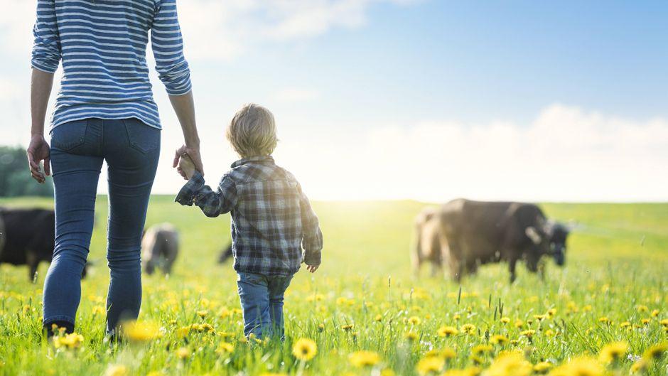 Das Allgäu ist die ideale Urlaubsregion für Familien mit Kindern.
