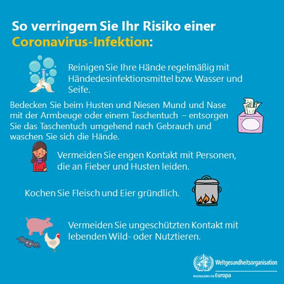 Diese Tipps der Who dämmen das Inflationsrisiko mit dem Coronavirus ein.
