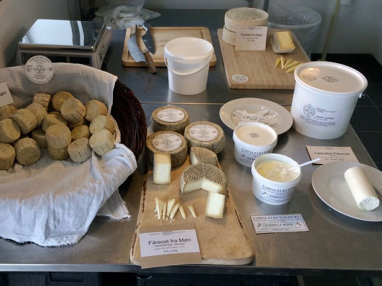 Die regionalen Produkte der Harbölle Meierei in Askeby auf Møn sind auch bei Sterne-Köchen in Kopenhagen beliebt.