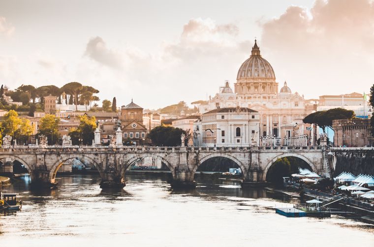 Blick auf die italienische Hauptstadt Rom.