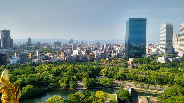 Viele Hochhäuser, aber trotzdem auch grün: Osaka in Japan landet im Ranking auf dem dritten Platz.
