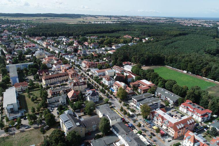 Die Städtearchitektur von Kühlungsborn ist gut durchdacht.