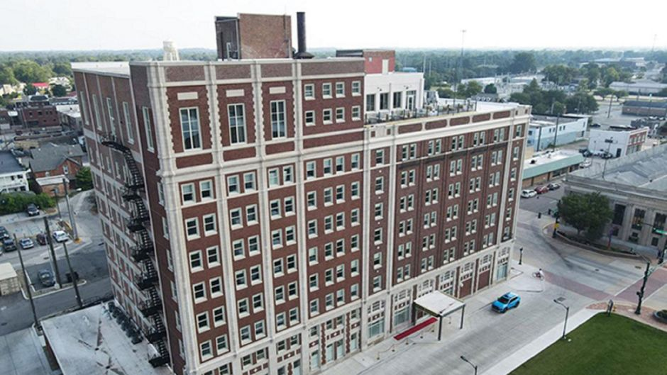 Das Hotel Elkhart in Indiana, USA.
