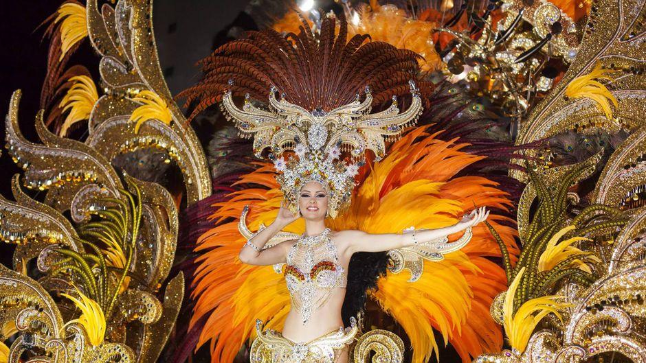 Die Königin des Karnevals auf Teneriffa: Judit López García.
