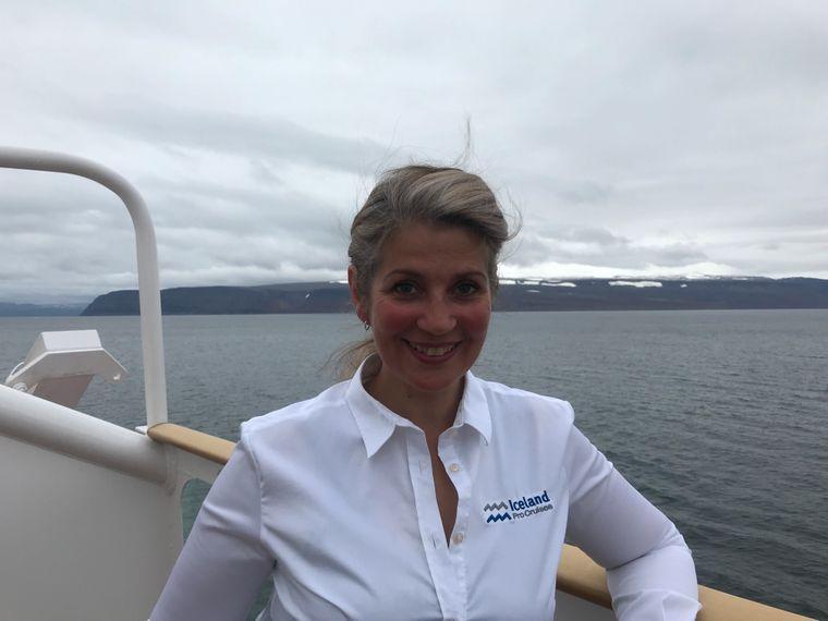 """Der frühere """"Apassionata""""-Star Arndis Halla Asgeirsdóttier arbeitet heute als Reiseleiterin auf dem Kreuzfahrtschiff."""