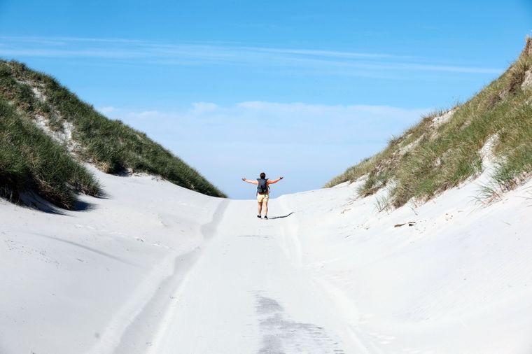 Amrum besteht zu 85 Prozent aus Naturschutzgebiet und bietet Reisenden deshalb viel Freiraum.