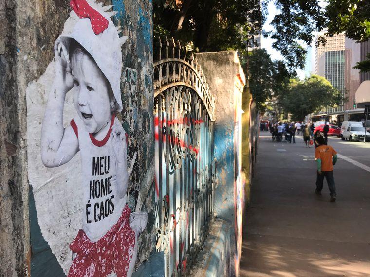 In São Paulo gibt es nicht nur Graffiti, sondern auch jede andere Form der Street-Art.In São Paulo gibt es nicht nur Graffiti, sondern auch jede andere Form der Street-Art.