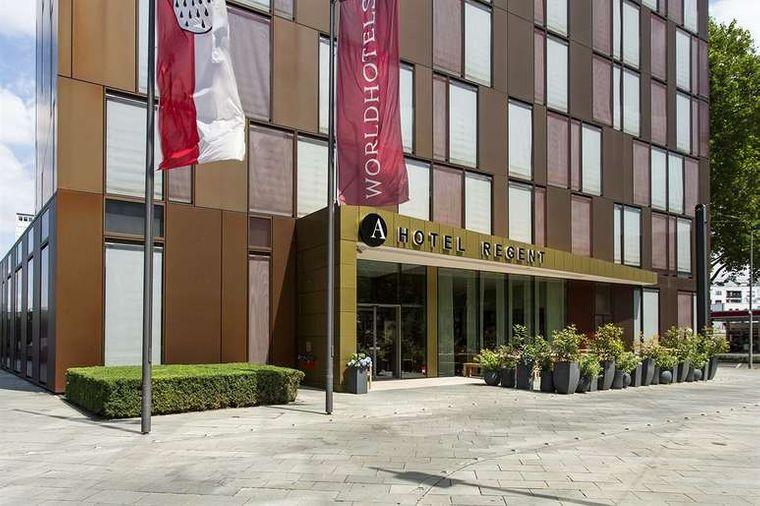 Die Fassade des schönen Ameron Regent Hotels in Köln Erhrenfeld.