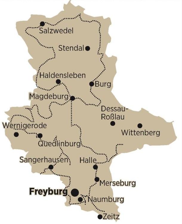 Die Straße der Romanik verläuft auf rund 1000 Kilometern durch Sachsen Anhalt.