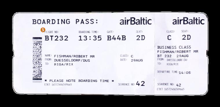 5. Deine Flugnummer besteht aus dem Kürzel deiner Airline und einer Nummer, die die Airline für diese Strecke verwendet.