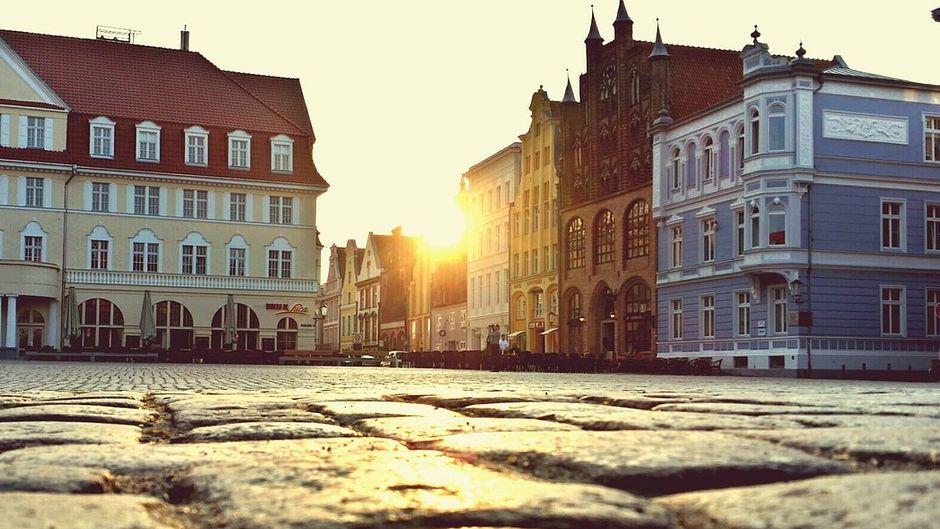 Der Alte Markt in Stralsund.