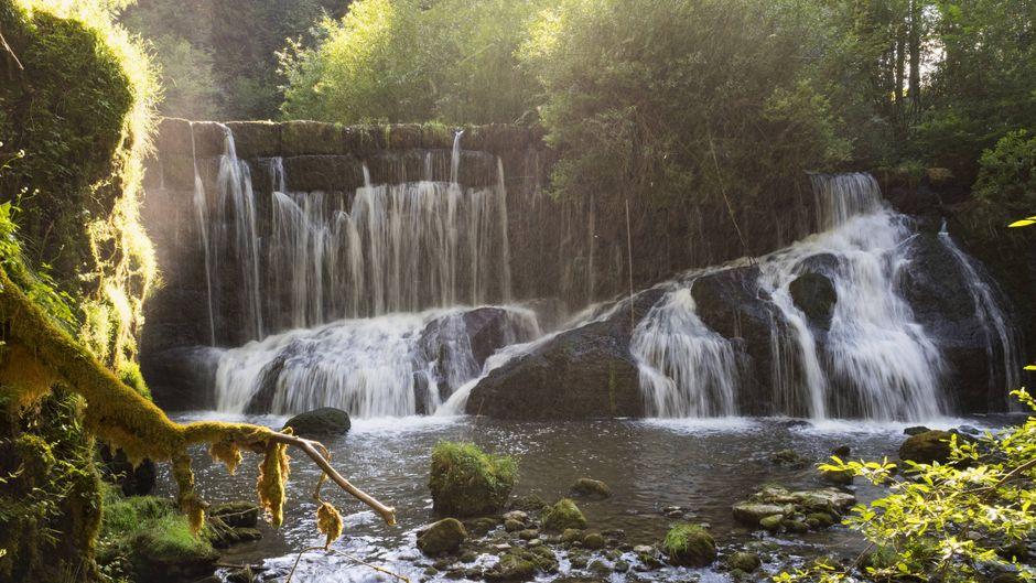 Die wunderschönen Geratser Wasserfälle in Bayern.
