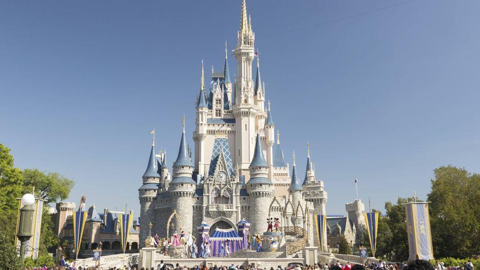 """Im Cinderella-Schloss des """"Magic Kingdom""""-Vergnügungsparks in Florida ist eine geheime Hotelsuite versteckt."""